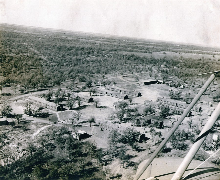 Aerial view of CCC Camp no 895 at Osage Hills State Park